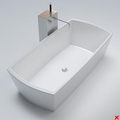 3d bath model