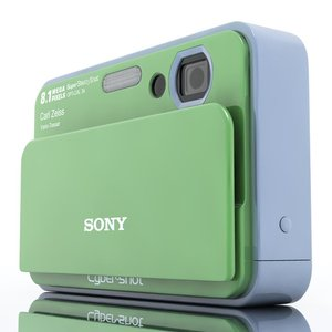 3ds max sony cybershot t2 camera