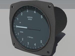 3d speed vertical indicator