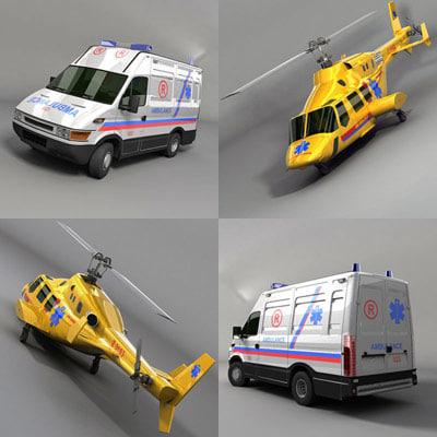 3d ambulance helicopter model