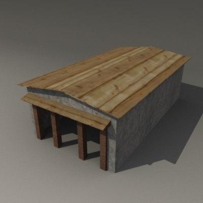 3d tibetian building model