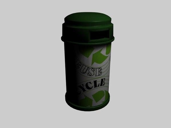 bin recycle 3d c4d