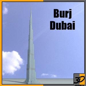 3d burj dubai skyscraper building model