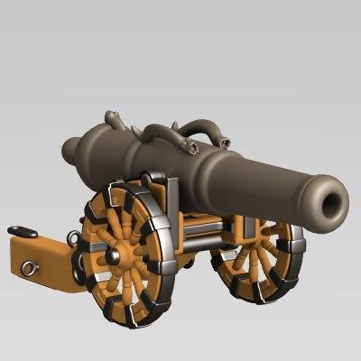 3d cartoon cannon