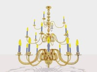 3d model light chandelier