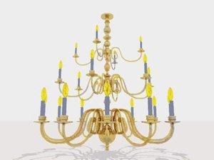 3d model light chandelier