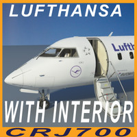 CRJ700 LUFTHANSA with interior