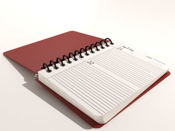 3d model of agenda date