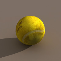3d dirty tennis ball model