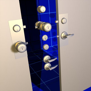 3d door handles deadbolts 01
