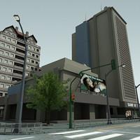 3d model definition city block