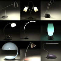 table lamps 3d dxf