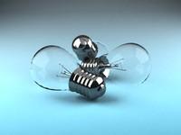 3d light bulbs model