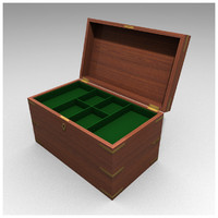 3d model mahogany box