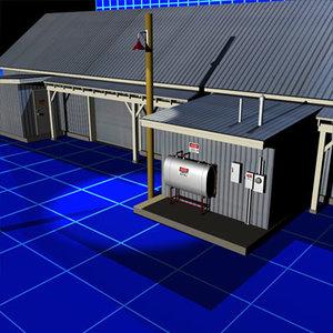 3d metal building 01 doors