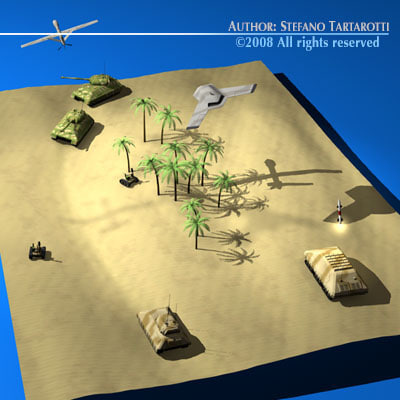 3d model modern warfare scenario