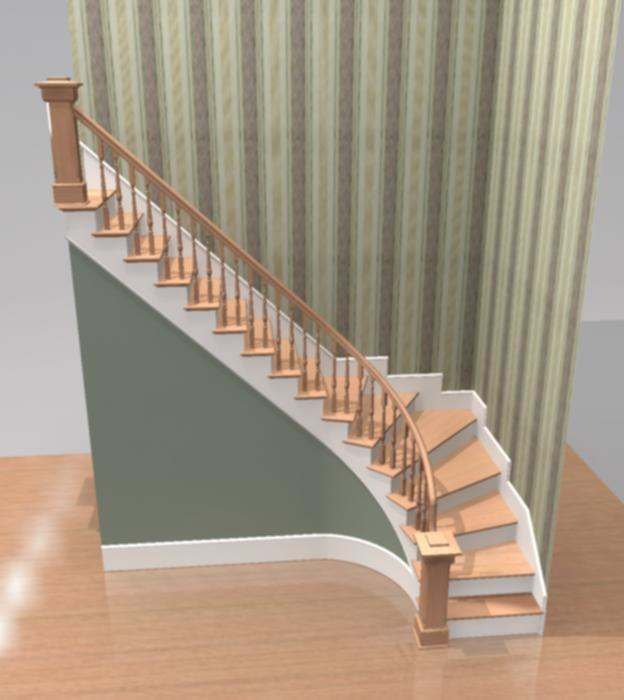 3d model staircase