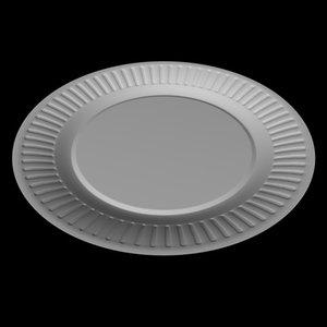 obj paper plate