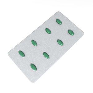 pill plate 3d model