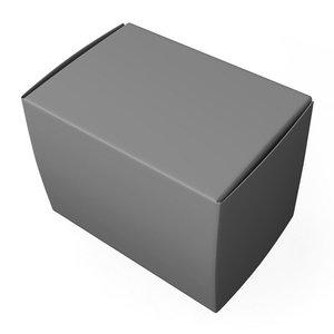 paper box 3d obj