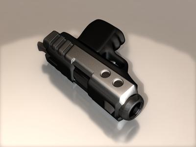 3dsmax pistol