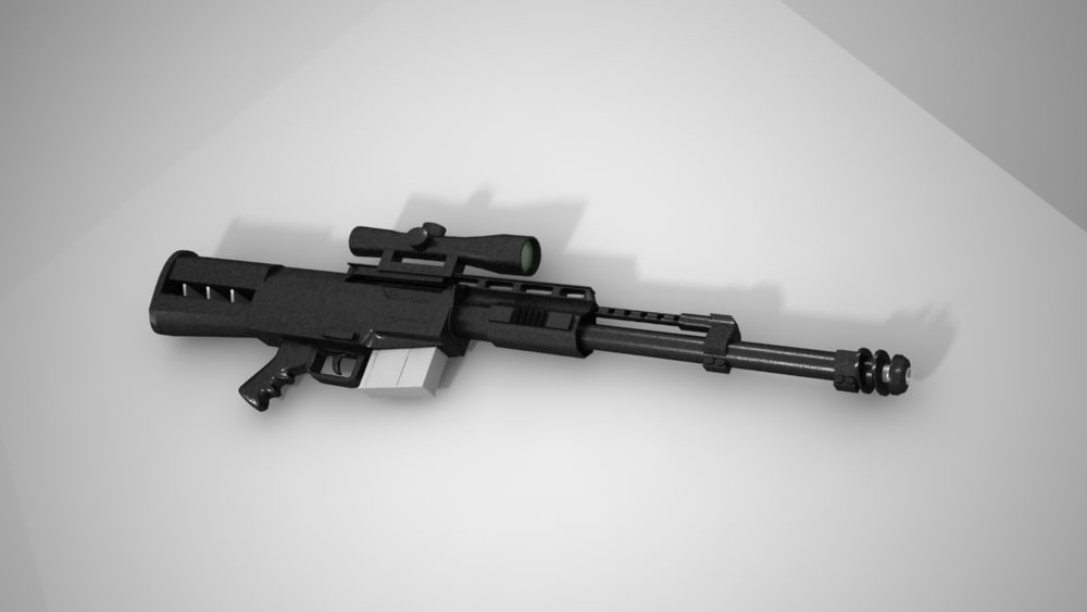 3d as50 semi automatic sniper rifle