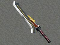 3d model sword red queen