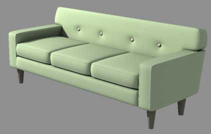 3ds max couch classy