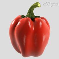 3d pepper model