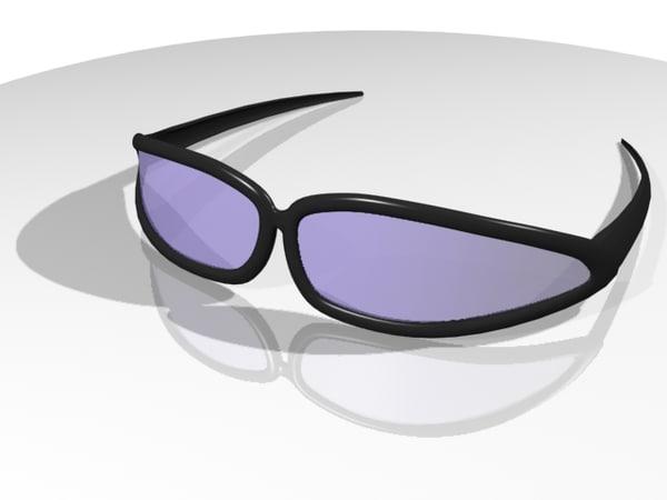 sun glasses shades 3d 3ds