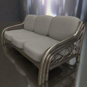 3d rattan sofa model