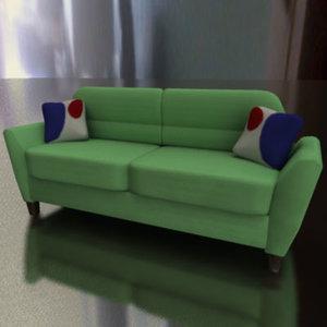 3d model sofa green