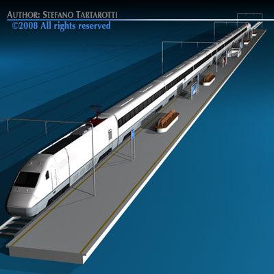 3d model speed train passenger