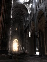 3d abandoned cathedral