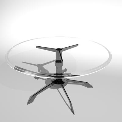 3d c4d glass table