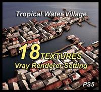 3d water village model
