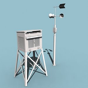 3d operated weather station model