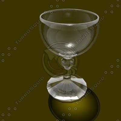 3d 3ds wine glass