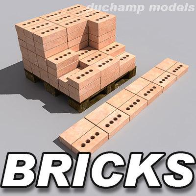 bricks pallet 3d max