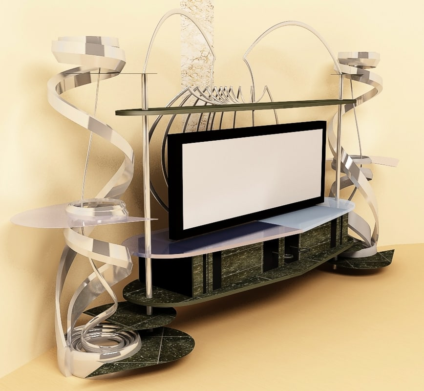 3ds max shelf tv