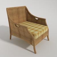 3dsmax ratang armchair