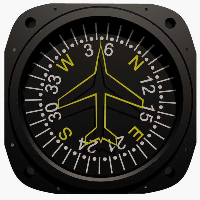 3ds max aircraft compass