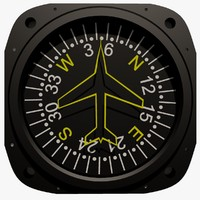 Compass Aircraft Instrument