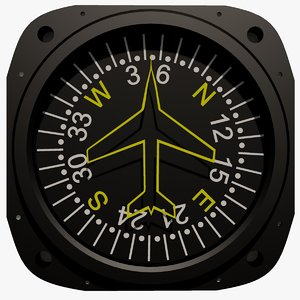 3ds max aircraft compass
