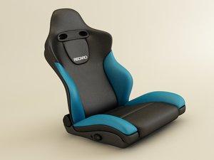 recaro seat 3d model
