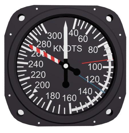 air craft speed knots 3d model