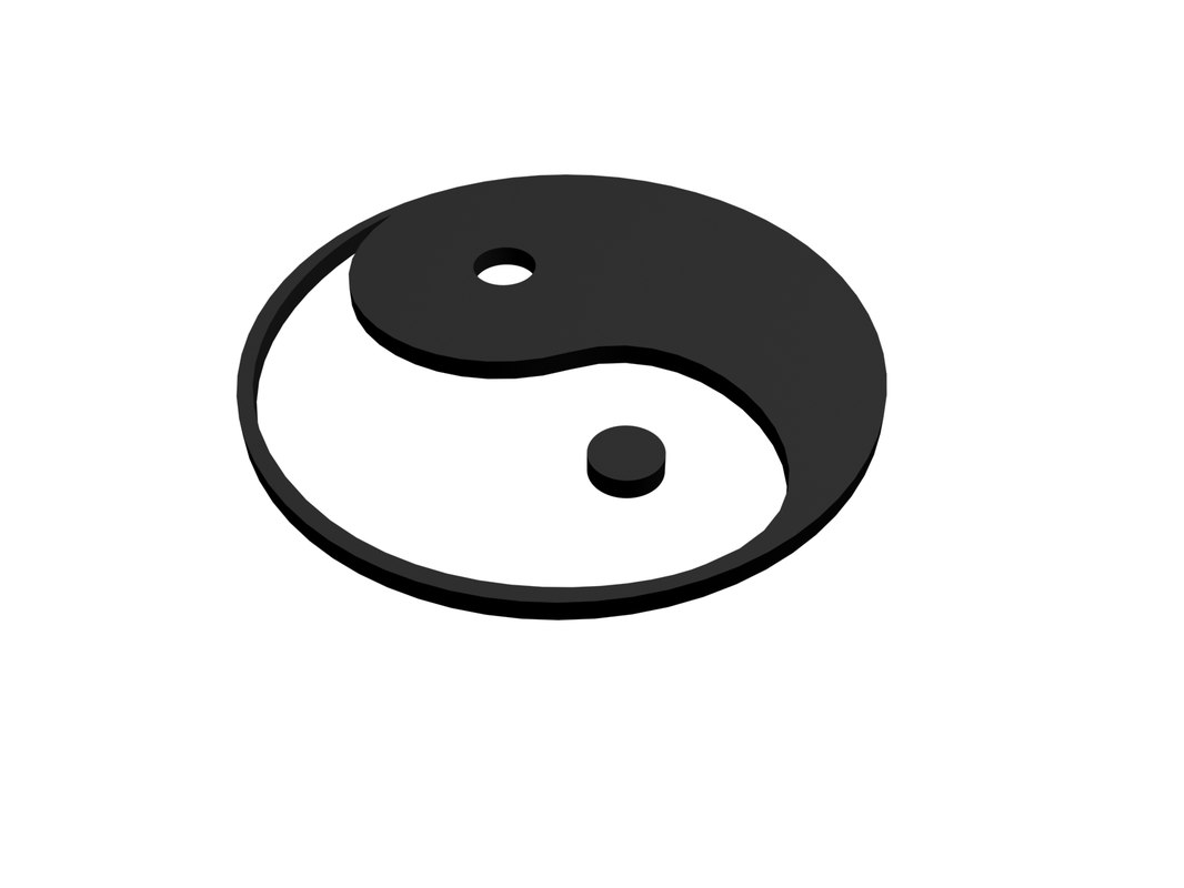 3d yin yang model