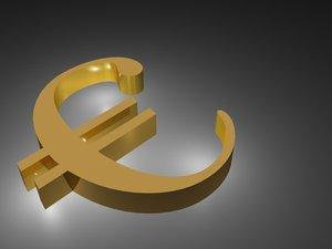 euro logo 3d 3ds