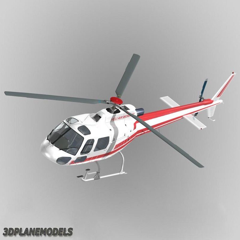 eurocopter heli air monaco 3d model