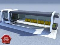 3d model bus stop v4
